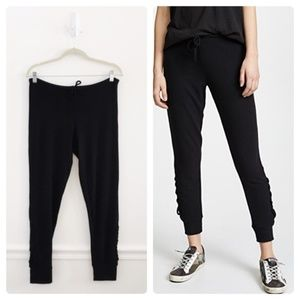 Chaser Black Lace Up Jogger Sweatpant